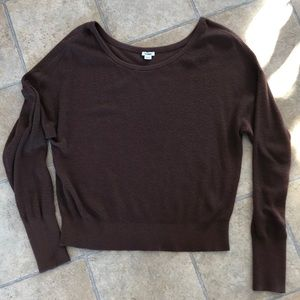 Garage brown long sleeve sweater